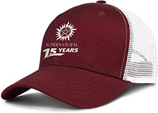 Unisex Baseball Caps 15-Years-of-Supernatural- Trucker Hat Adjustable Snapback Hats
