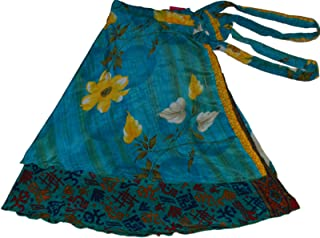 WEVEZ Women's Lot of Pack of 5 Silk Sari Skirts