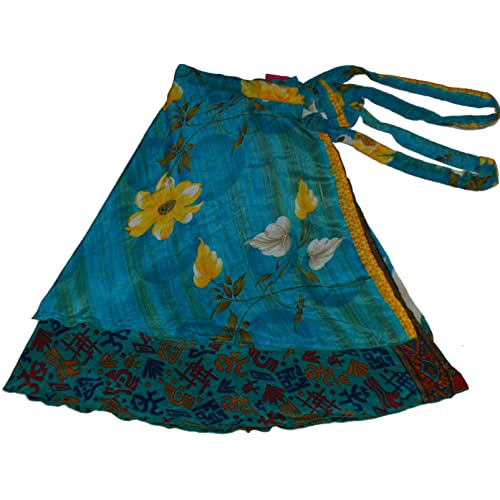 Wevez 5 Pcs Reversible Fairy Magic Wrap Around Sari Skirts Pack