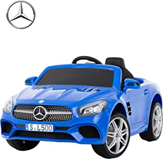 Uenjoy 12V Licensed Mercedes-Benz SL500 Kids Ride On Car Electric Cars Motorized Vehicles for Kids, Remote Control, Music, Horn, Spring Suspension, Safety Lock, Blue