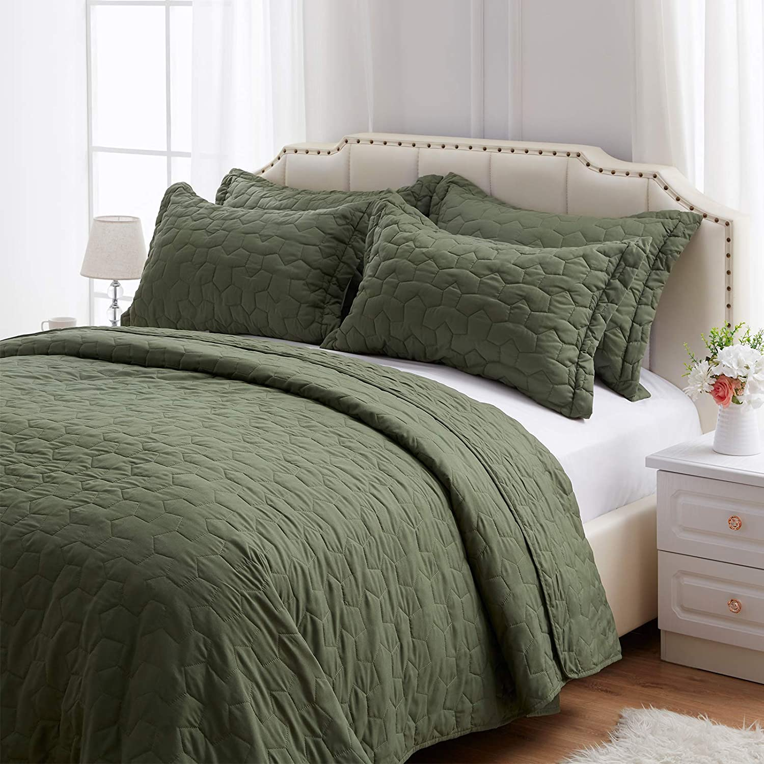 New product type NexHome Quilt Set King White Soft Queen Al sold out. Lightweig Blue