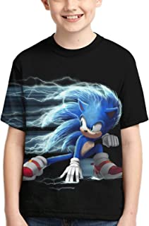 VELLICHOR Kids Sonic The Hedgehog 3D Short Sleeve Shirts Casual Graphics Tops Tee for Girls and Boys