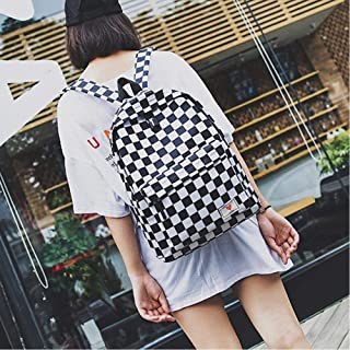 New Lattice Letter Printed Casual Rucksack High Quality Unisex Harajuku Girl Fashion Travel School Shoulder Bag Handbag