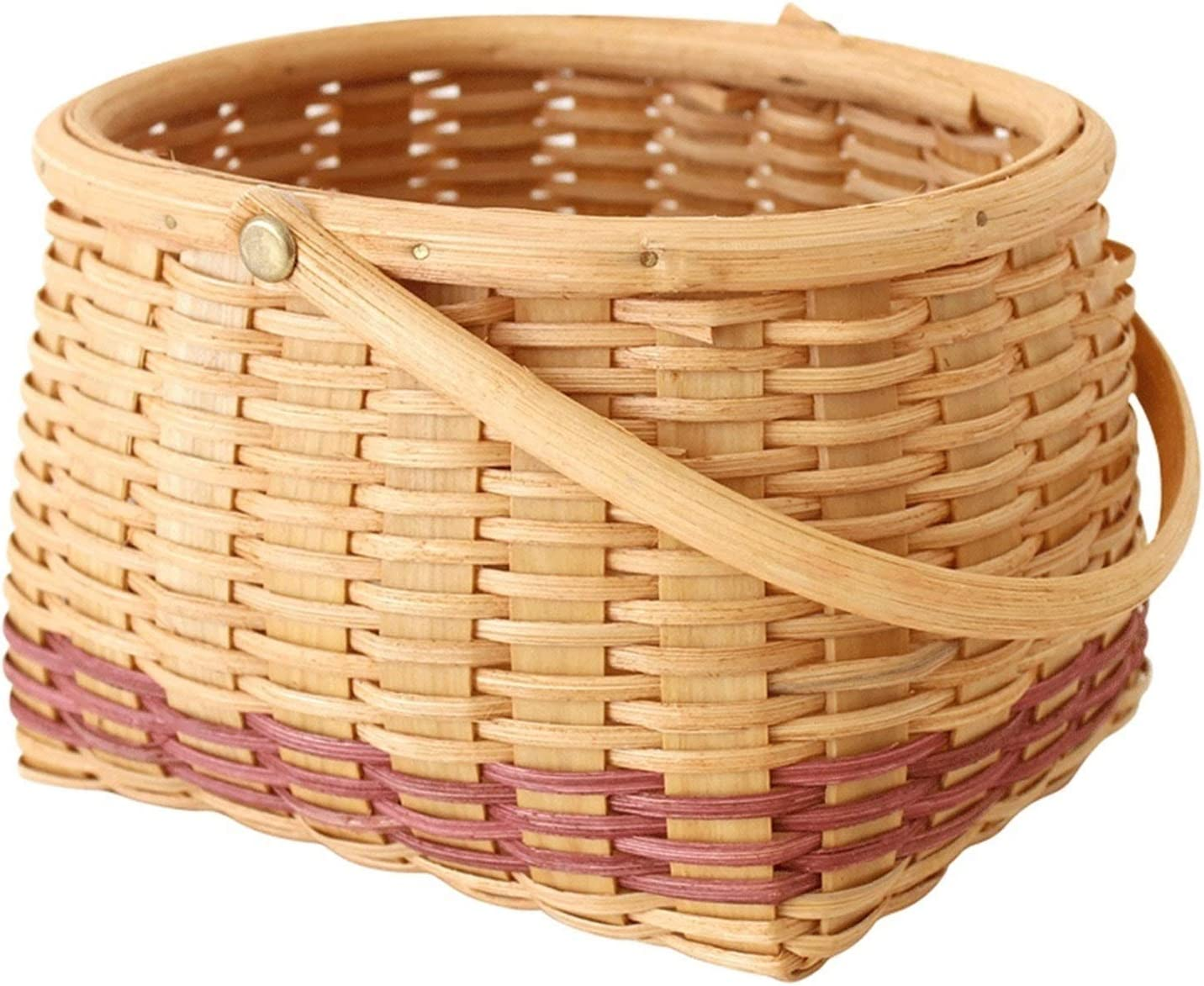 Soldering Electric oven Very popular Round Rattan Woven and Storage Basket Veget Fruit