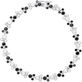 Disney Mickey Mouse Jewelry for Women and Girls, Sterling Silver Cubic Zirconia Tennis Bracelet,