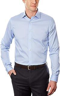 قميص مايكل كورس أصلي قياس 15 32-33 مميز بالقصة الضيقة واللون الأزرق