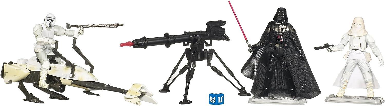 Battle Pack  Hoth Assault  mit Biker Scout 6 Speeder Bike, Darth Vader und Snowtrooper & TRI-Pod Cannon - Star Wars von Hasbro B003A6GH1C Charmantes Design  | Verrückter Preis, Birmingham