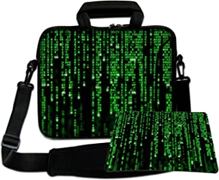 LUXBURG® 12,1 Pulgadas Bolso de hombro con diseño, Funda con Bandolera en Neopreno para Ordenador Portátil. Además alfombr...