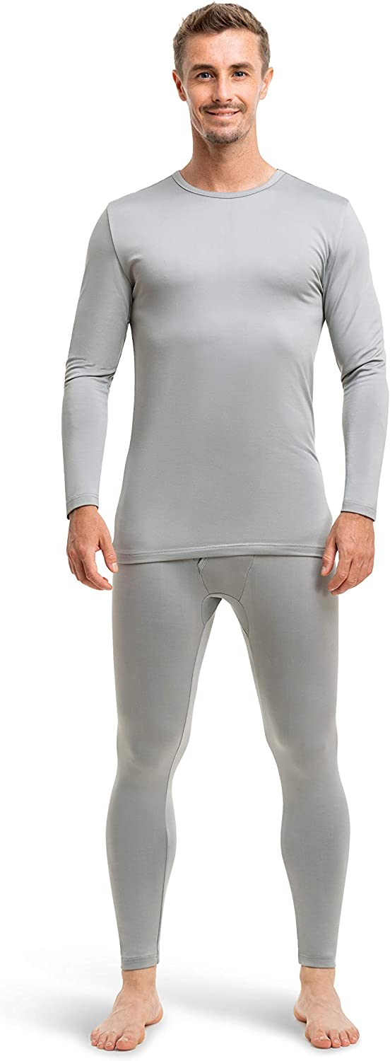 Mens Ultra-Soft Thermal Underwear 2 Piece Long Johns for Men with Fleece Lining