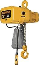 Harrington NER Single Speed Electric Chain Hoist, Three Phase, Hook Mount, 3 Ton Capacity, 20' Lift, 17 fpm Max Lift Speed, 3.8 HP, 32.9