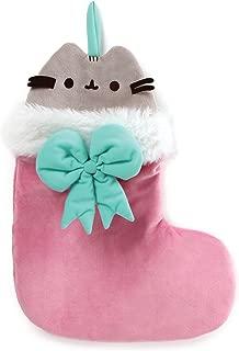 GUND Pusheen Christmas Holiday Stuffed Plush Cat in Stocking, 11