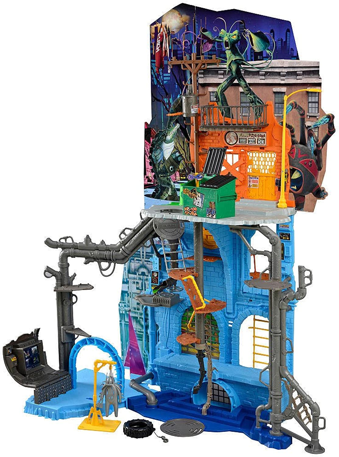 Turtles Teenage Mutant Ninja Sewer Lair Playset with Dimension X Portal