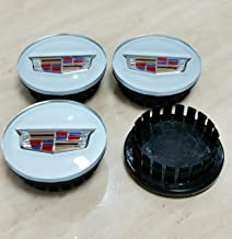4Pieces Set for Cadillac Wheel Center Hub Caps Emblem Silver 67mm //2.64 Rim Center Hubs for Cadillac ATS CTS DTS SRX STS 2.6 Wheels 9597375 Silver with Wheat Ear