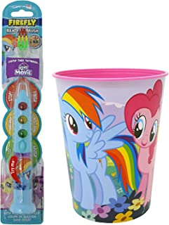 My Little Pony Rainbow Dash Toothbrush Dental Kit: 2 Items - Firefly Ready Go Toothbrush, My Little Pony Character Rinse Cup