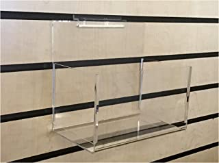 ExecuSystems Slatwall Acrylic Hosiery and Merchandise Bin 7.75 Inches Wide x 4.75 Inches Deep x 4.5 Inches High Front for Retail Display