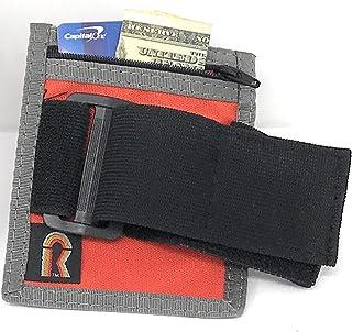 حامل شارة ID/شارة شارة قابل للتعديل من النايلون مع جيب بسحاب. متوسط. صُنع في الولايات المتحدة الأمريكية.