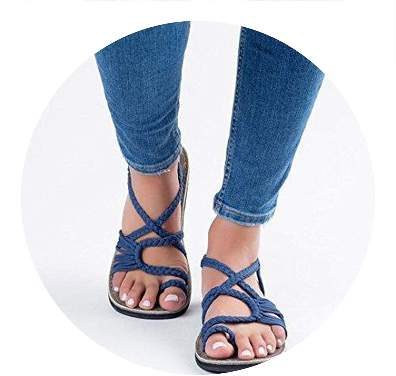 Pleasantlyday Women Sandals Comfortable Summer shoes Rome Style Beach shoes Flat shoes Femme