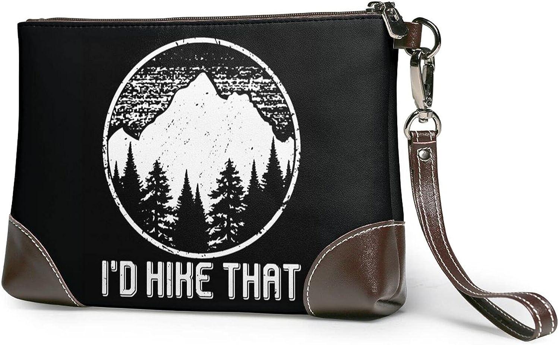 I'D Hike That Women'S With Genuine Lowest price challenge Wristlet Strap San Antonio Mall Leathe Handbag