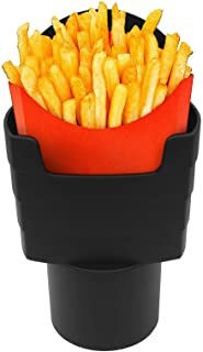 Hangnuo French Fry Cup Holder Black Car French Fry Cup Holder Drink Beverage Fast Food Holders Phone Mount Automotive Inte...