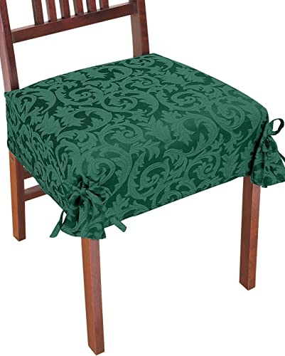 lowest Damask outlet online sale Chair discount Covers, Color Green outlet online sale