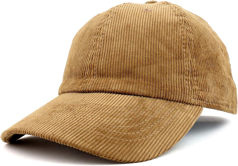 Charlotte Recommendation Mall Trendy Apparel Shop Cotton Corduroy Unstructured Baseball Cap Da