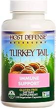 Host Defense, Turkey Tail Capsules, Natural Immune System and Digestive Support, Daily Mushroom Mycelium Supplement, USDA Organic, Gluten Free, 120 Vegetarian Capsules (60 Servings)