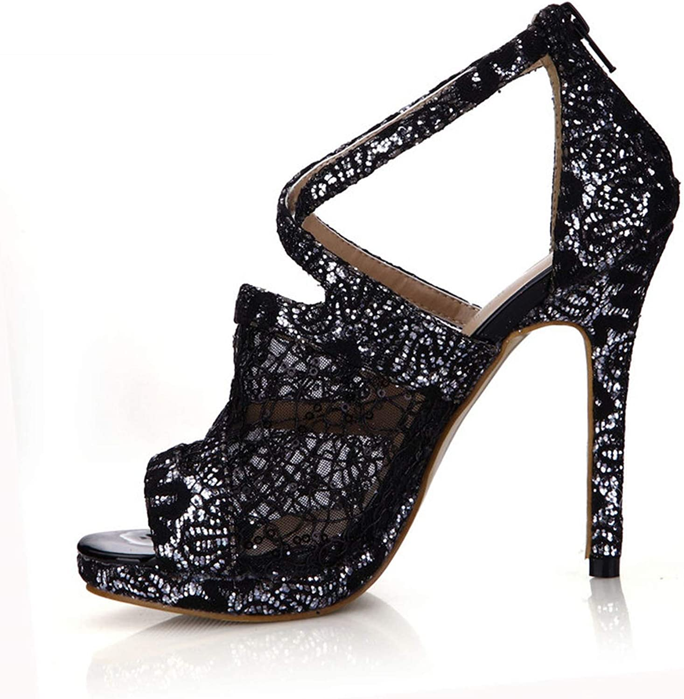 Summer Sexy Sandals 12 cm Thin High Heels shoes Woman Cross Strap Pumps