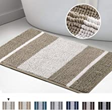 Turquoize Striped Bath Rug Luxury Shaggy Bath Mat, Super Absorbent Water, Non-Slip, Perfect for Tub Extra Soft and Absorbe...