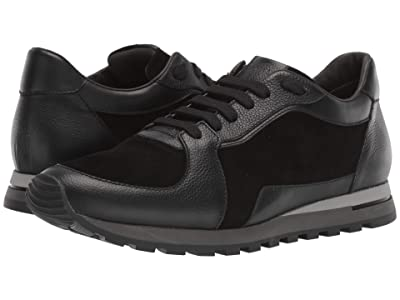 Canali Suede/Calf Runner Sneaker (Black) Men