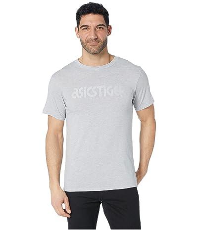 ASICS Tiger Silver Logo Commuter Tee (Mid Grey Heater) Men