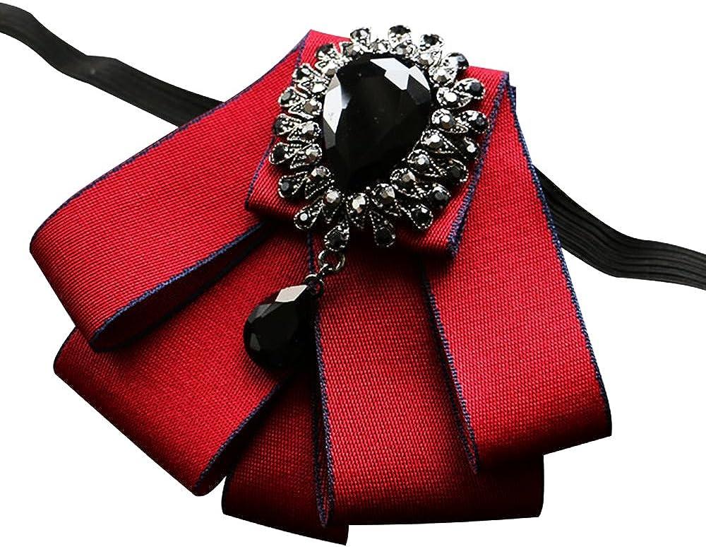 ICEYUN Men's Wedding 6colors BowTie Crystal Rhinestone accessories Women Party necktie