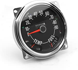 17206.04 Speedometer Assembly, 0-90 MPH, Includes Speedometer Assembled with Fuel and Tempature Gaues Fits Jeep CJ5 1955-1979, CJ6 1955-1971, CJ7 1976-1979