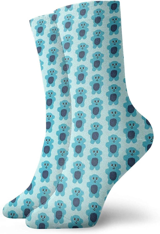 Beebo Pattern Athletic 30cm Socks Ankle Socks Sport Casual Socks Cotton Crew Socks