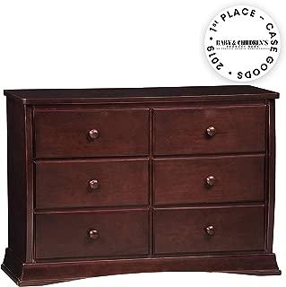 Delta Children Bentley Six Drawer Dresser, Black Cherry Espresso