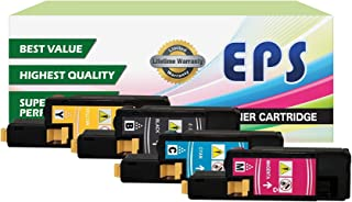 4PK EPS Replacement High Yield Toner Set Compatible with DELL E525W (1 Black, 1 Cyan, 1 Yellow, 1 Magenta)