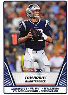 2019 NFL Stickers Collection #67 Tom Brady New England Patriots (Small, Thin, Peelable Official Panini Sticker Football Card)
