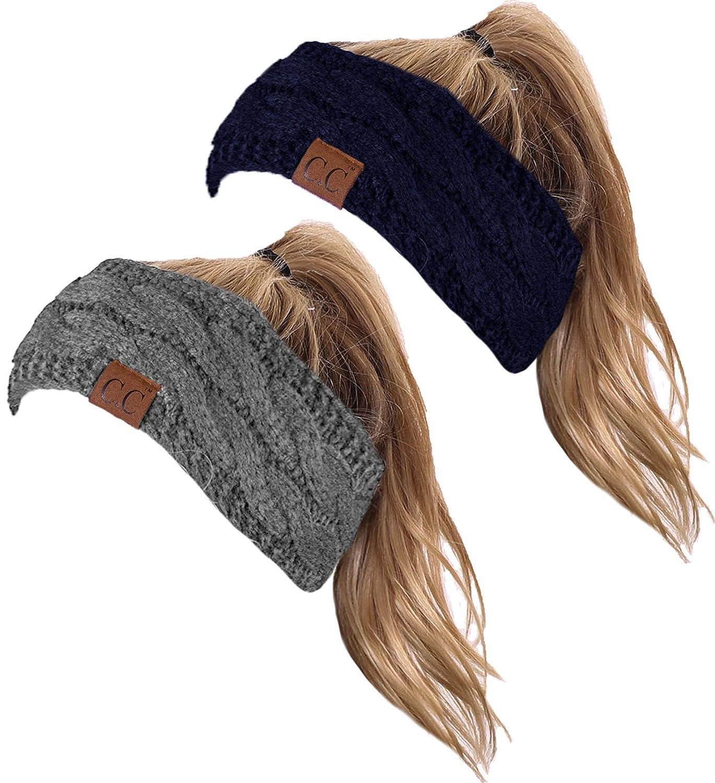 Headwrap Bundle - Navy & Heather Grey (2 Pack)