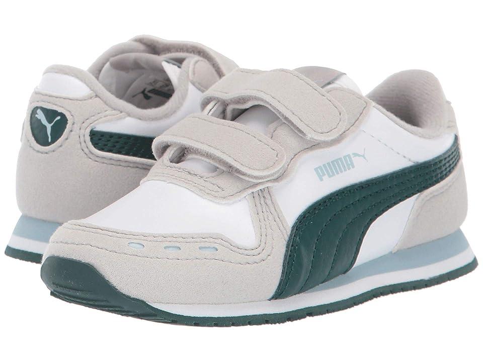 Puma Kids Cabana Racer SL Velcro (Toddler) (Puma White/Gray Violet/Ponderosa Pine) Boys Shoes