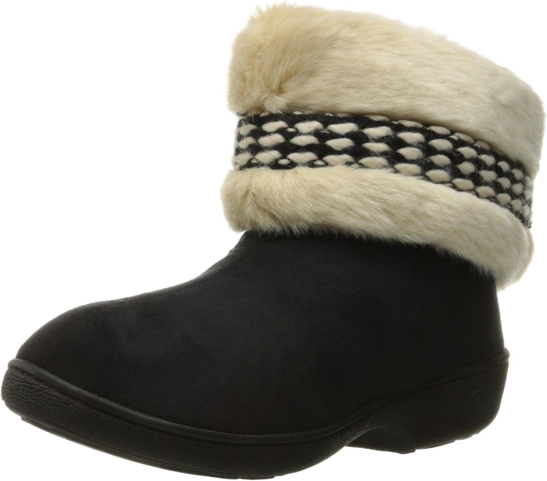 Isotoner Womens Boot W Enhanced Heel Cushion Slipper