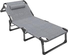 Ligstoelen Liggend Strandstoelen voor Volwassenen Leggen Plat, Opvouwbare Lichtgewicht Fauteuilspatio Stoelen met Brede Ar...