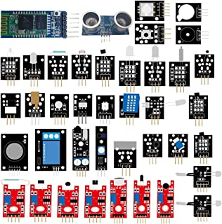 DSD TECH Sensor Module Kit 39-IN-1 Robot Starter Kits with HC-05 and HC-SR04 for Arduino UNO R3, MEGA Raspberry PI