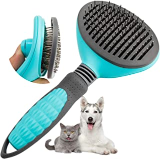 Pet Hair Brush Cat Dog Slicker Grooming Vaburs Brushes for Removing Shedding Loose Undercoat Hair Comb for Pets Massage Se...