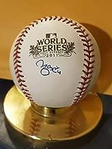 Yadier Molina St Louis Cardinals Autographed Signed Memorabilia 2011 World Series JSA Coa
