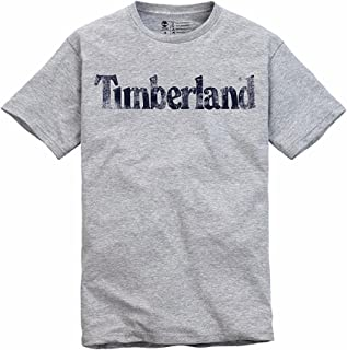 Timberland Men's Faded Linear Logo T-Shirt