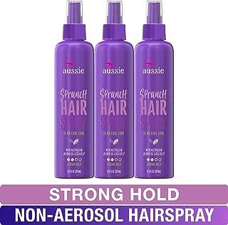 Aussie, Hairspray Non-aerosol, with Jojoba & Sea Kelp, Sprunch, For Curly Hair, 8.5 fl oz, Triple Pack
