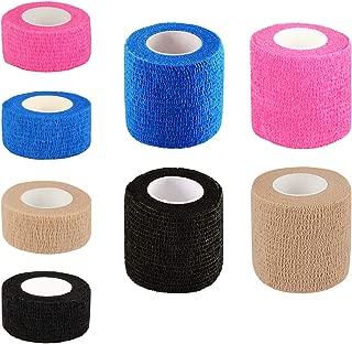 Gonex Self Adhesive Bandage Wrap, Athletic Elastic Bandage Tape for Sports, Vet Wrap, Color, 2 Inch 1 Inch 8 Counts