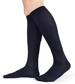 Ciocca, 6 pares de calcetines largos para hombre de algodón con hilo escocés elástico – Fabricado en Italia