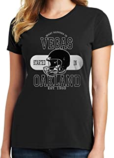 What Happens in Vegas, Started in Oakland Womens T-Shirt 3162