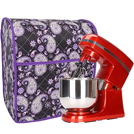 Kitchenaid Mixer Cover with Pocket, Stand Mixer Covers with Paisley Print, Mixer Dust Cover Compatible with 6-8 Quarts Kitchenaid/Hamilton Stand Mixer/Tilt Head & Bowl Lift Models (TFC368)