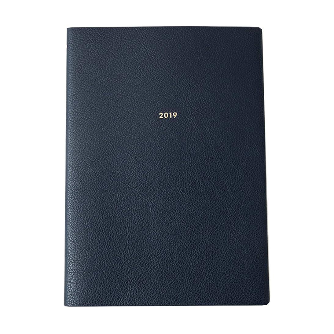 インタビュー鍔独創的グリーティングライフ モーメントプランナー 手帳 2019年 B5 マンスリー バーチカル ネイビー CD-821-HT 2018年 12月始まり